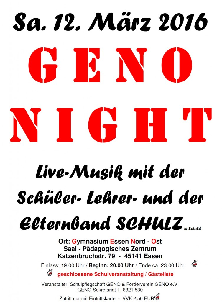 Geno Night 2016